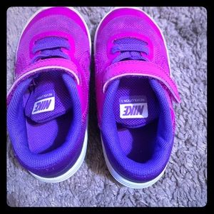 Purple Nike Toddler shoes